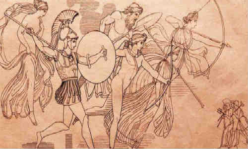 荷马史诗-伊利亚特(第五卷1)