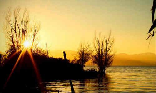 现代诗歌原创两首:日暮落下、四月的雨