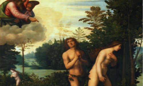 亚当和夏娃在伊甸园里的故事